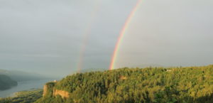 Double rainbow, Columbia Gorge